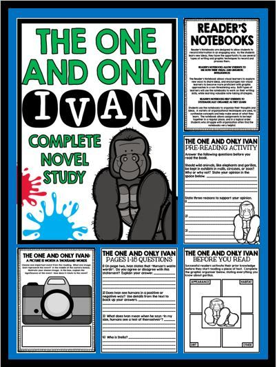 The One and Only Ivan - Complete Novel Study!