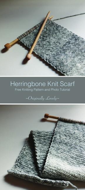 Free Knitting Pattern | Fischgrätenmuster-Schal |…