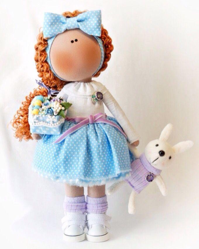 Купить Кудряшка с пирожными макарун в коробочке - интерьерная кукла, интерьерная игрушка, интерьерное украшение