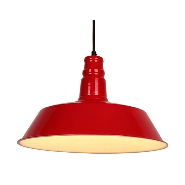 Cord: 110 cm (Adjustable) Color: Gloss Red Material: Aluminum Power Range of Bulb (W): MAX 40 This fixture does need to be hard wired Professional installation is recommended Bulb not included
