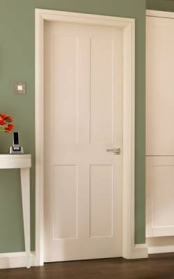 Burford 4 Panel - Moulded Panel Doors - Internal Doors - Doors & Joinery Collection - Howdens Joinery