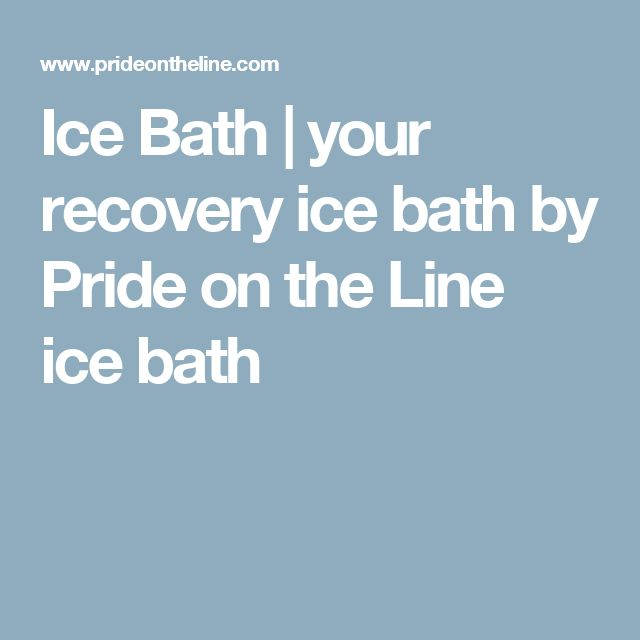 Ice Bath | your recovery ice bath by Pride on the Line ice bath