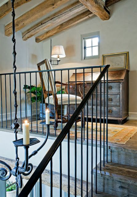 TG interiors: Oz Architecture , Pinterest and an Award....love iron connections to make light fixture work for tall ceiling