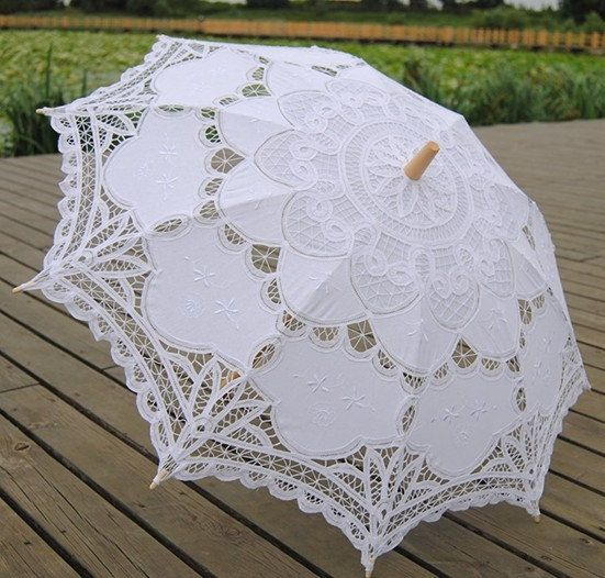 Battenburg Lace Umbrella Wedding Bridal Parasol on Etsy, $19.99
