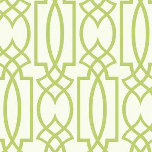 Contemporary Lime Green Geometric 27 Inch Sure Strip Wallpaper