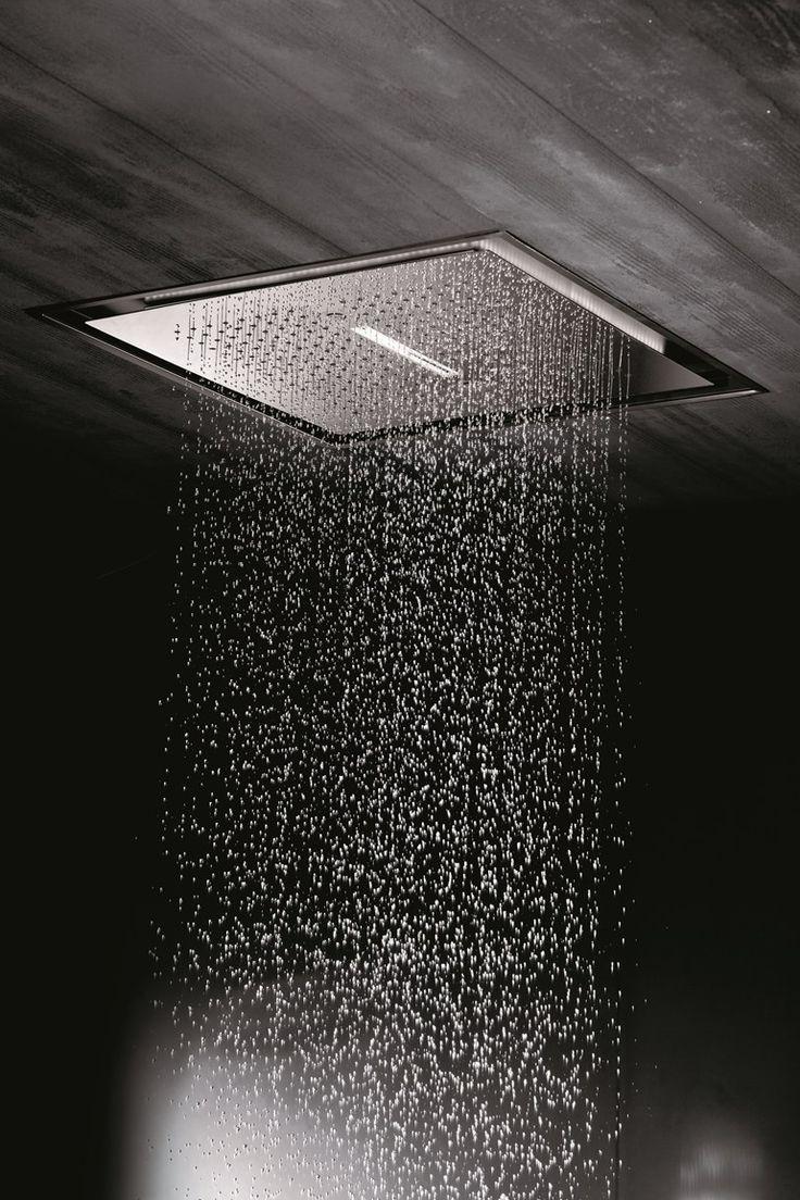 Cabeza de ducha en cascada de lluvia de acero inoxidable con LED 2-JETS HEAD SHOWERS | Cabeza de ducha encastrable - NEWFORM