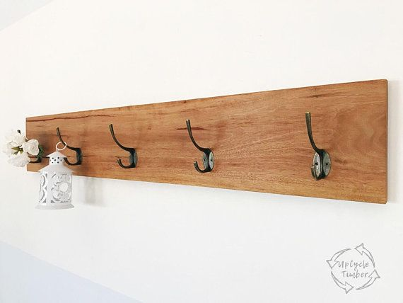 Australian Timber Wall Mounted Coat Rack Hooks Racks Clothing Clothes Hook Bedroom Key Hanger Wooden Hooks U Wall Mounted Coat Rack Timber Walls Recycle Timber