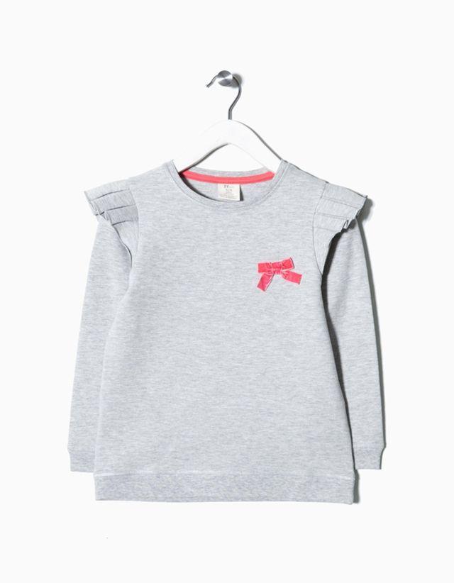 Sweatshirt em jersey, zippy