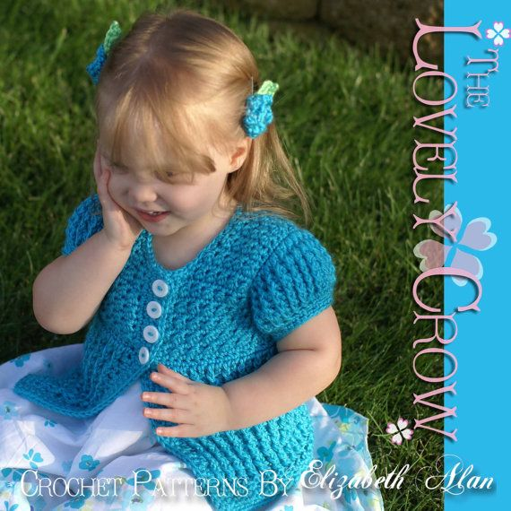 Baby Cardigan Crochet Pattern Vest Sweater or by ebethalan on Etsy
