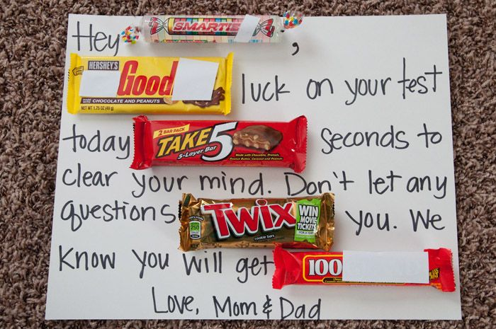 Candy Letter To Wish Your Kiddos Good Luck On Tests If