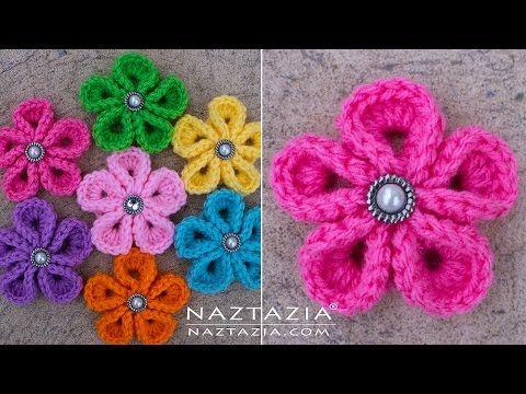Puffed Triangle Star Stitch - Single Puffs and Base Chain - Basic Crochet Tutorial - YouTube