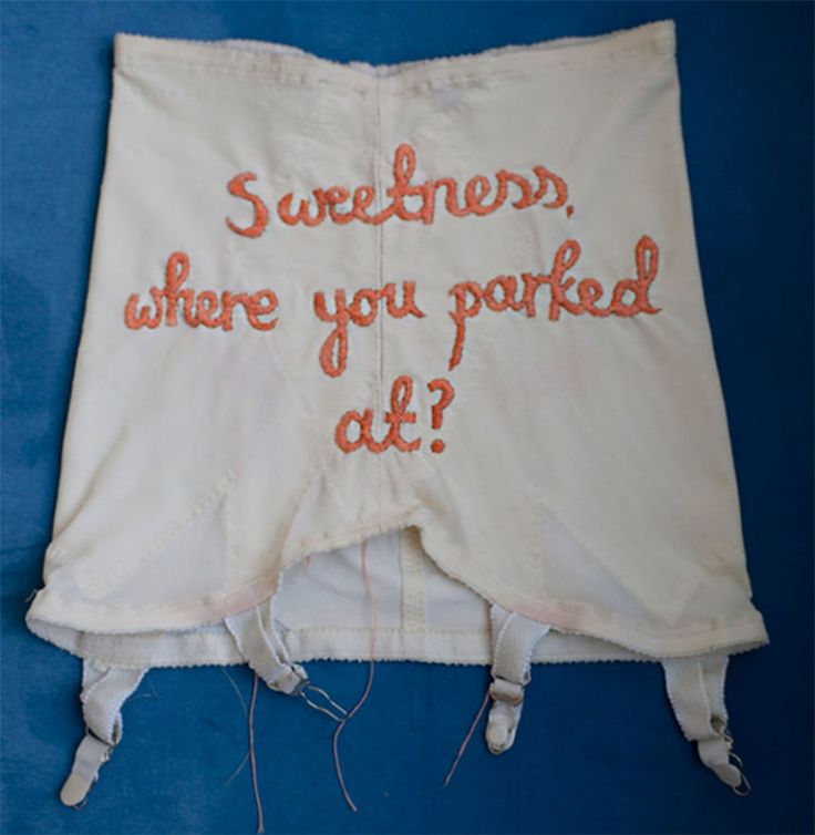 This Artist Embroidered Tupac And Biggie's Rhymes On Lingerie To Make You…