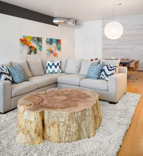 A Look into Interior Design Trends 2017 - Tree Stump Table