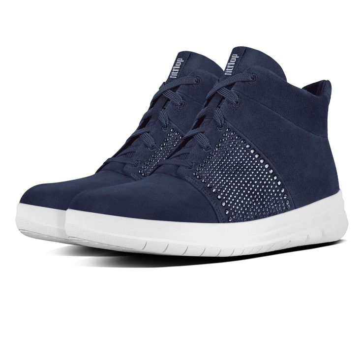 FitFlop Sporty Pop X Crystal High Top Midnight Navy FitFlop Official Online Store