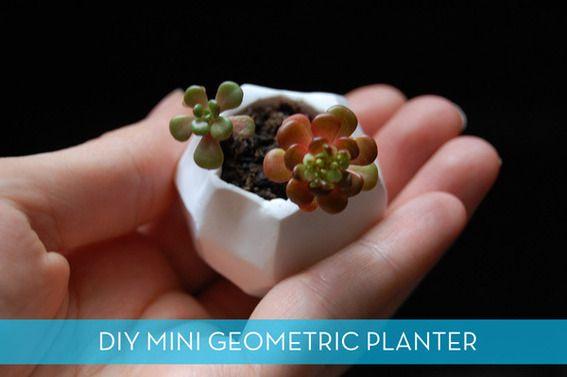 how to make a miniature geometric planter