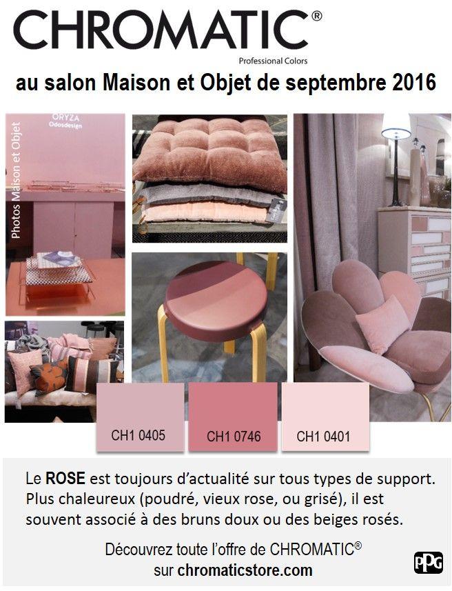 Le #rose au salon #Maison et #Objet de septembre 2016. www.chromaticstore.com #tendances
