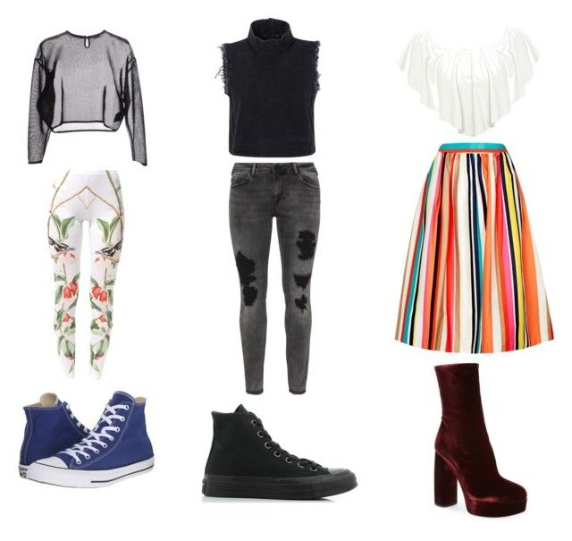 """""""24"""" by drile on Polyvore featuring Yves Saint Laurent, Due., Converse, Rachel Comey, Zizzi, WearAll, Alice + Olivia and Miu Miu"""