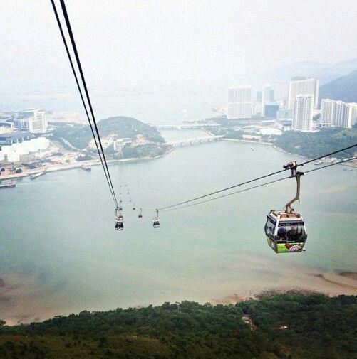 Several hundreds of feet high in Hong Kong