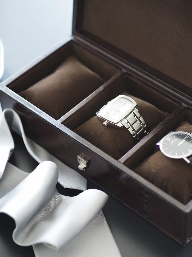 Edward 3-watch box, dark brown