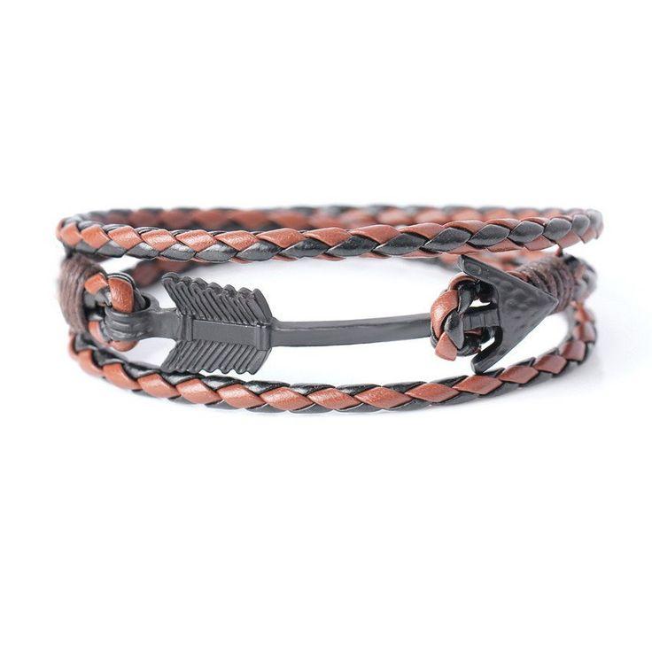 Vintage Knight Leather Arrow Bracelet