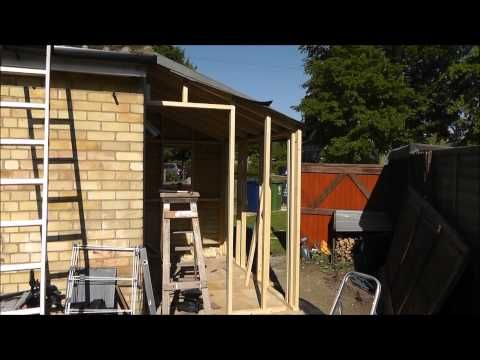 Building a lean to Utility Room Project..wmv - YouTube