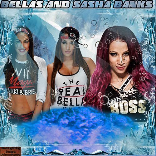 todays theme hope everyone enjoys black lightning bella twins and sasha banks
