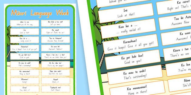 * NEW * Support Phrases Display Posters Te Reo Maori