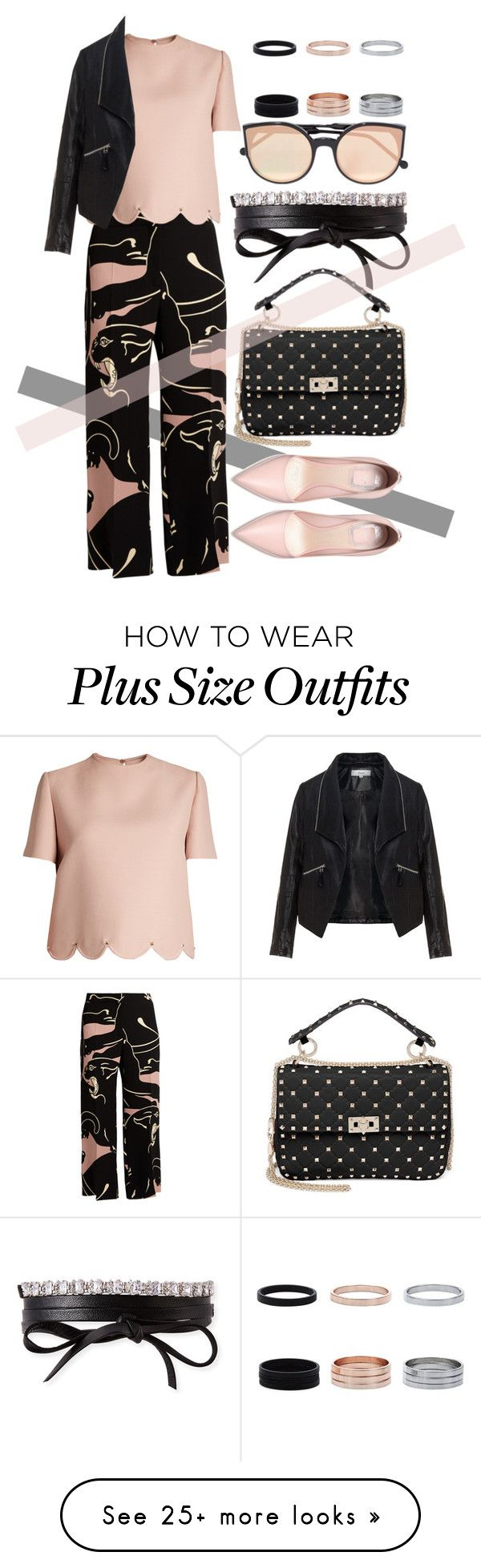 """Untitled #722"" by ssm1562 on Polyvore featuring Valentino, Zizzi, Fallon and RetroSuperFuture"