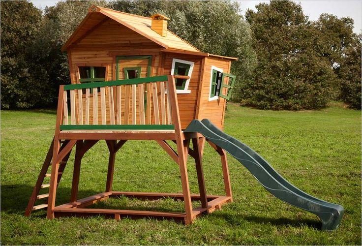 Maisonnette sur pilotis Loft 350 Vert Exit Toys cabane enfant en - Maisonnette En Bois Avec Bac A Sable