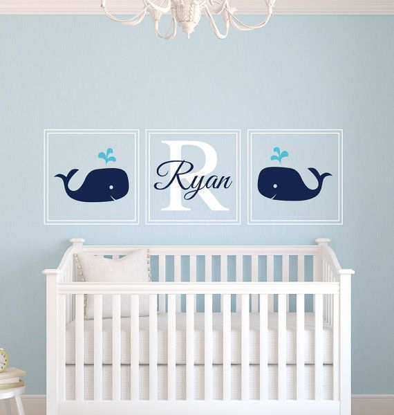 Personalized Name Wall Decal Nautical Wall by PinkiePeguinShop