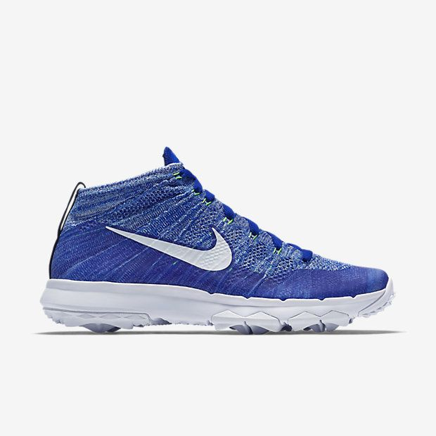 Chaussure de golf Nike Flyknit Chukka pas cher pour Homme Bleu coureur/Bleu  université/