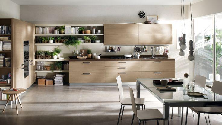 Feel kuchyň ve světle hnědé / kitchen in light brown color