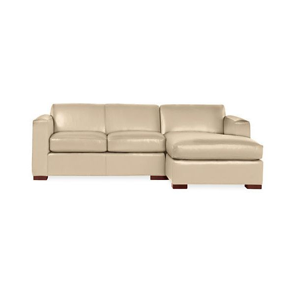 Ian Leather Sofas with Chaise ($3,598) ❤ liked on Polyvore featuring home, furniture, sofas, modern leather chaise, leather couch, modern couches, modern leather couch and modern leather sofa