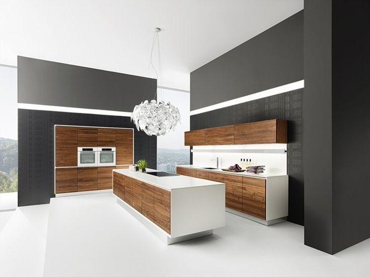 Very nice combination of colors. Contrast. // #minimal #kitchen #wood // TEAM 7 Natürlich Wohnen by Sebastian Desch