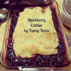 A blackberry cobbler recipe from my grandmother with an easy rustic crust recipe.