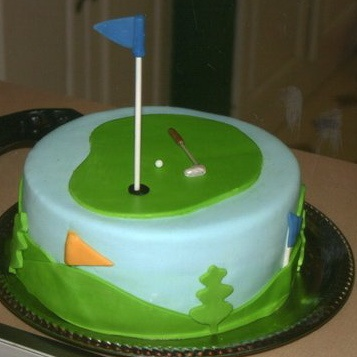 Golf Cake with Fondant Detail