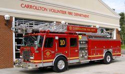 Carrollton Volunteer Fire Department, Carrollton, VA - Quint 10 - 1997 E-One Cyclone #virginia #carrollton #commonwealth #fire #truck #setcom #ladder #quint #cyclone http://setcomcorp.com/firewireless.html
