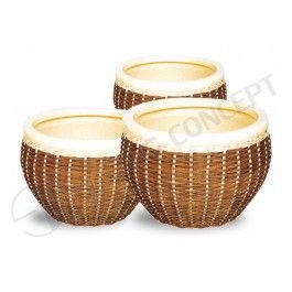 Woven rattan and water hyacinth ceramic flower pots, G Concept, Decorative Garden Planters, Hand Woven Rattan Planter, Wholesale Ceramic Planters, Weave Rattan Planters, Vietnam Garden Supplies, Rattan Garden Planters, Decorative Ceramic Pots