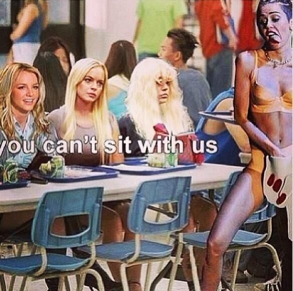 YOU CAN'T SIT WITH US! [Britney Spears, Lindsay Lohan, Amanda Bynes, Miley Cyrus]