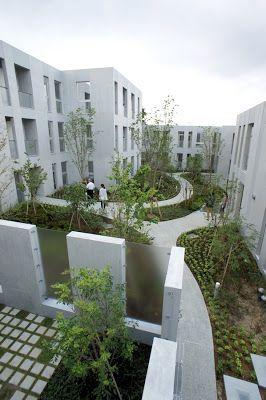 japan-architects.com: 長谷川逸子による共同住宅「NISHIMAGOME TERRACE COURT」
