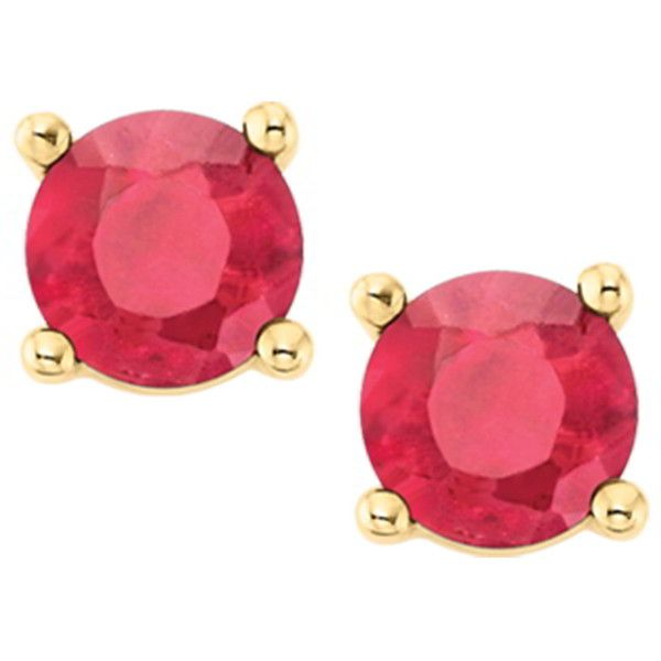 Ruby Stud Earrings in 14K Yellow Gold (£165) ❤ liked on Polyvore featuring jewelry, earrings, red, gold earrings, red stud earrings, stud earrings, 14 karat gold stud earrings and 14k gold earrings