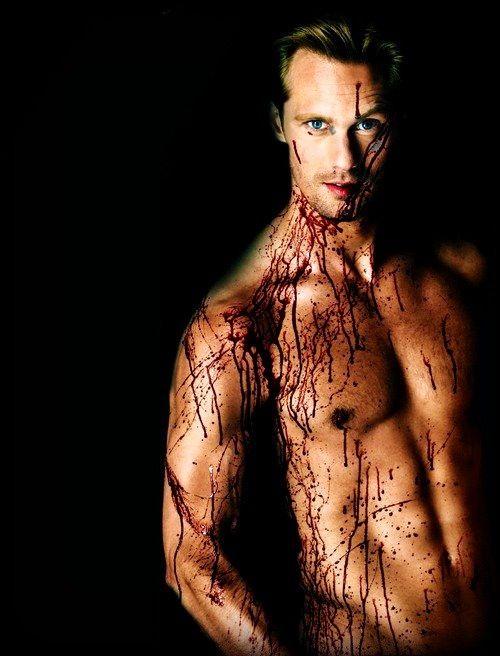 True Blood Eric Northman shirtless and covered in dripping Blood ✤✤✤