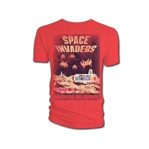 Space Invaders Men's Invaders Del Espace T-Shirt (Red)