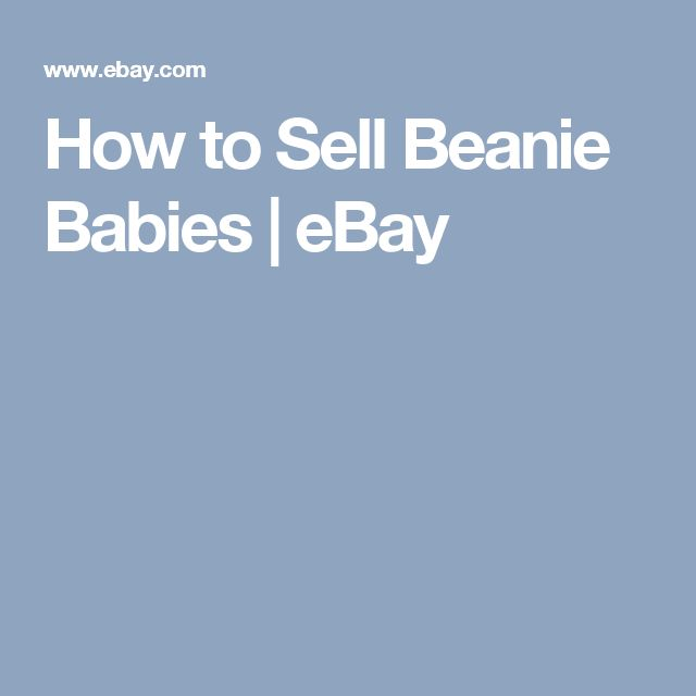 How to Sell Beanie Babies | eBay