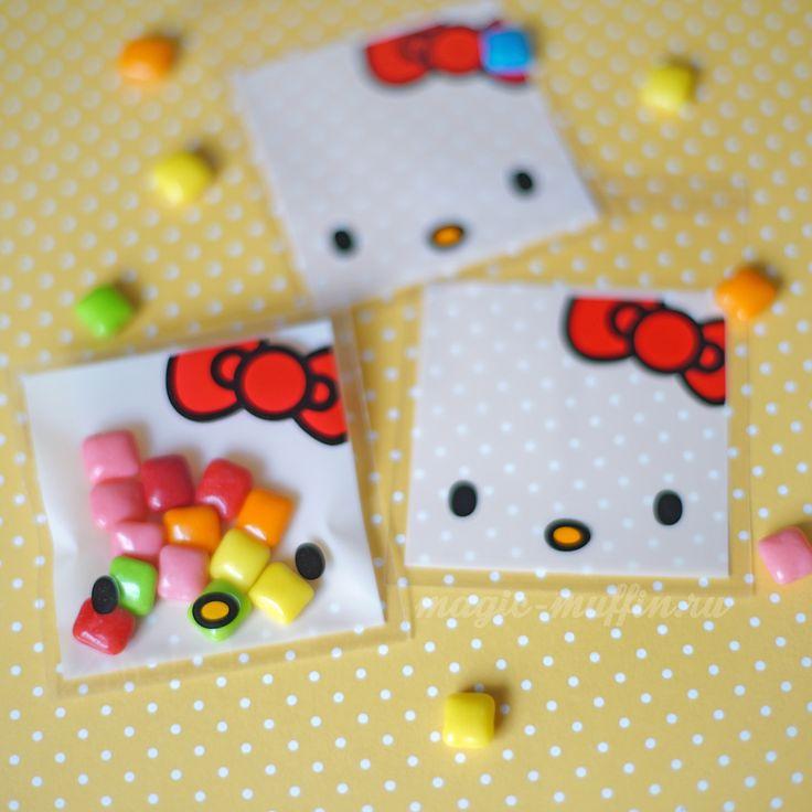 Мини-пакетики с клапаном: Hello Kitty, 10 штук
