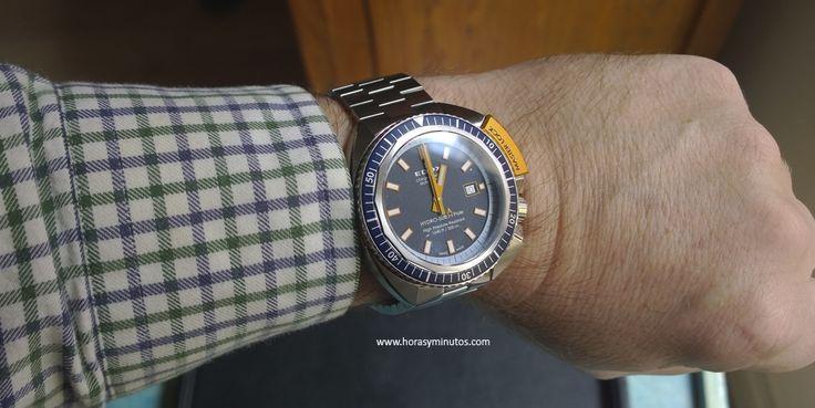 Repasamos un reloj de buceo que no tiene tanto predicamento como otros, pero que sin embargo es uno de los más atractivos de los que han salido este año, de la mano de Edox.