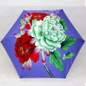 Super Nice Fashion Lotus ESPRIT UV Resistant Vinyl Folding Umbrella w/Pouch