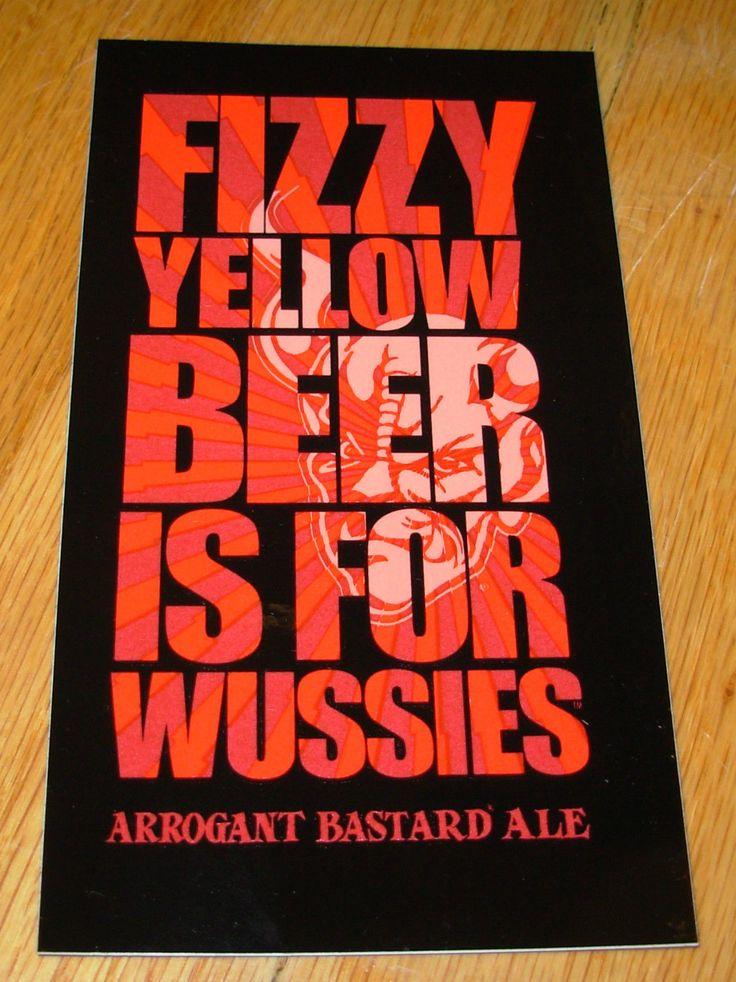 Stone Brewery Promo Arrogant Bastard Fizzy Sticker Decal Craft Beer Brewing | eBay