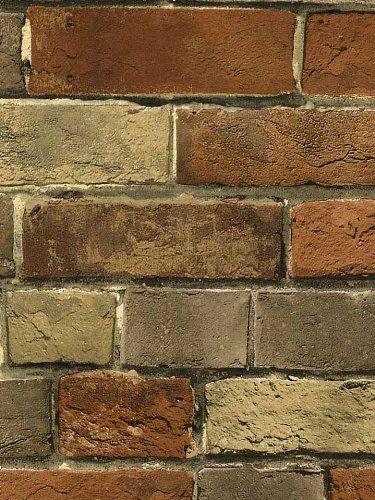 Wallpaper Faux Rust Tuscan Brick Wall, Looks Real Up! Norwall http://smile.amazon.com/dp/B004DF56MU/ref=cm_sw_r_pi_dp_ztkOtb0WC19E0BE7
