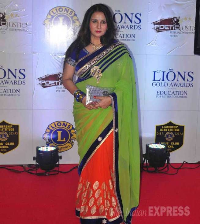 Poonam Dhillon at the 21st Lions Gold Awards. #Bollywood #Fashion #Style #Beauty